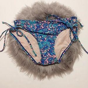 Xhilaration   Blue & Pink Paisley Bikini Bottom M